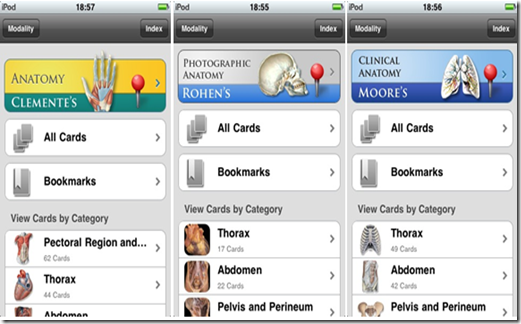 Anatomy flash cards app