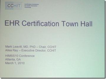 EHR certification