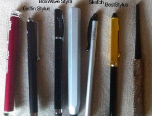 "iPad stylus pen review, finding the best ""handwriting"" stylus for touch screen devices"