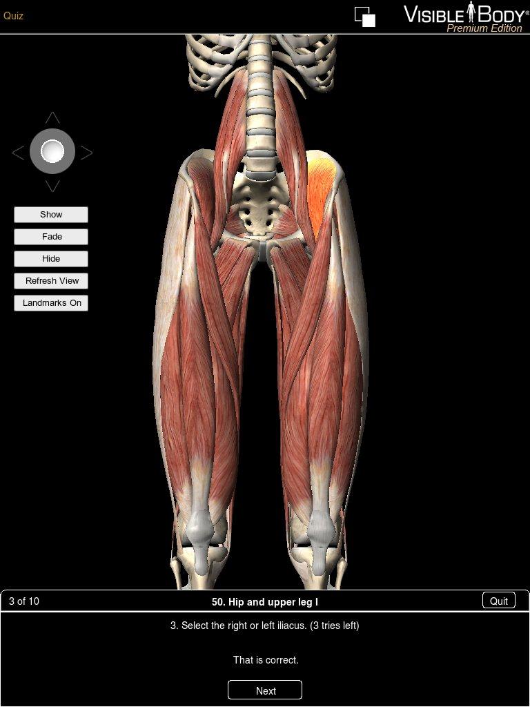 Learn anatomy quiz app