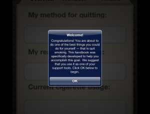 Can Physicians recommend QuitForever app as a useful tool for smoking cessation?