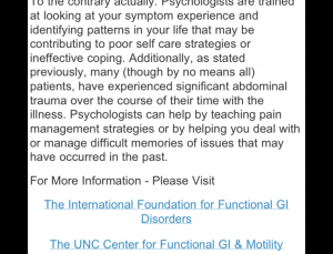IBS Symptom Tracker app needs a Cognitive Therapist to be put to good use