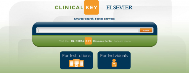 A probable replacement to MDConsult, introducing ClinicalKey