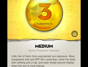 Ultraviolet is a potentially useful sun protection app for patients