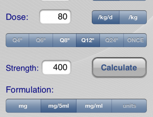 Pedi QuikCalc app is true to its name, a quick and easy medical calculator for pediatricians