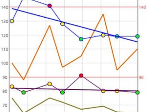 Easy blood pressure tracking with iBP Blood Pressure app