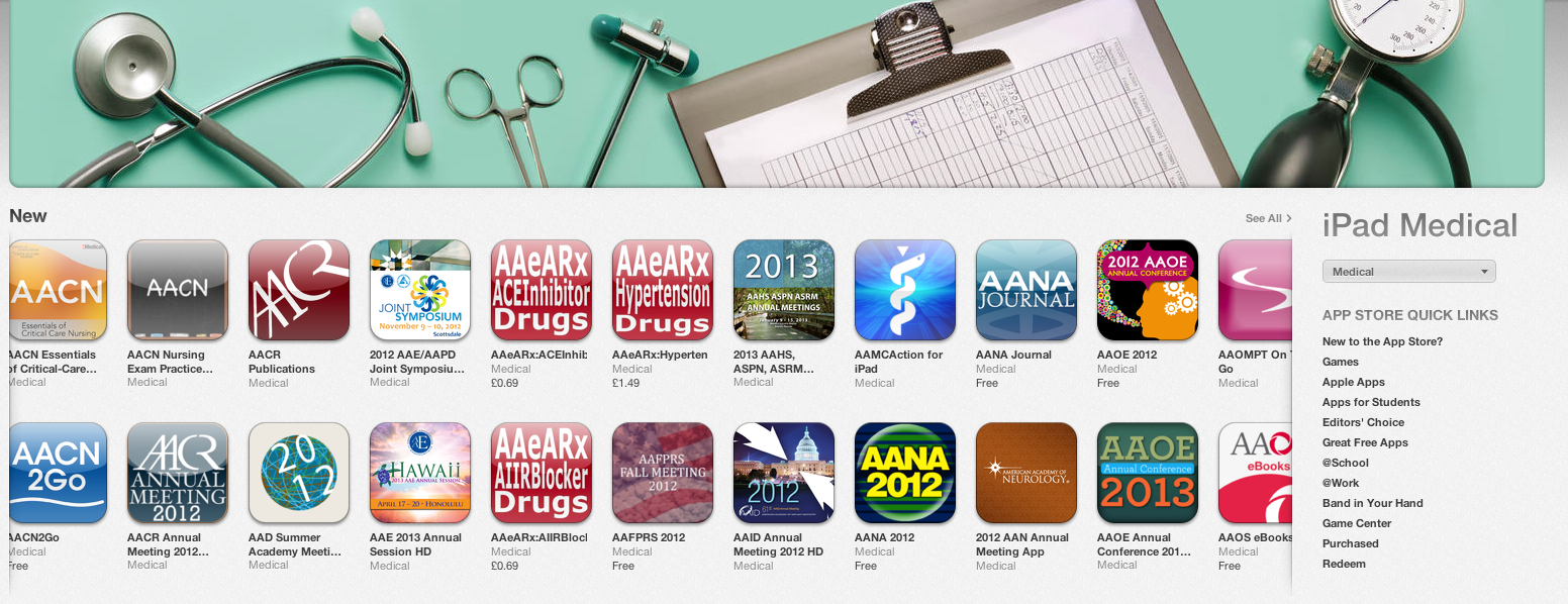 My personal pet peeve - medical apps for specific conferences