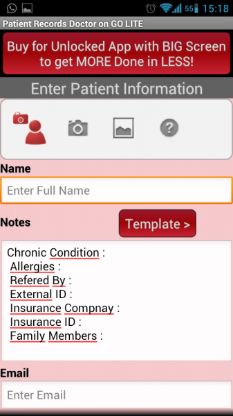 Adding patients
