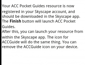 ACC Pocket Guides works well within Skyscape to deliver evidence-based guidelines to clinicians