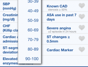 NSTEMI Risks app calculates myocardial infarction risk of your patients