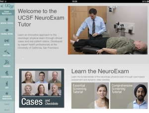 UCSF NeuroExam Tutor medical app provides a guide to neurological assessments