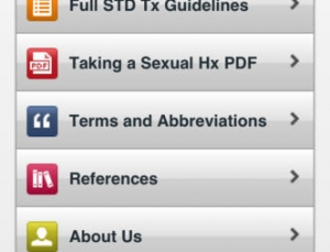 Review of the CDC's STD treatment guideline medical app