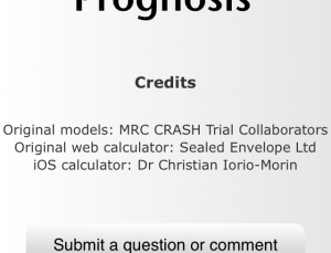 TBI Prognosis app calculates mortality in patients with traumatic brain injury