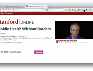 Stanford to offer online training in international mobile health tech, free