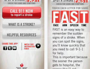 American Heart Association's free stroke recognition app is critical for patients and families to download