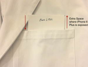 iPhone 6 Plus has issues fitting in physician white coats
