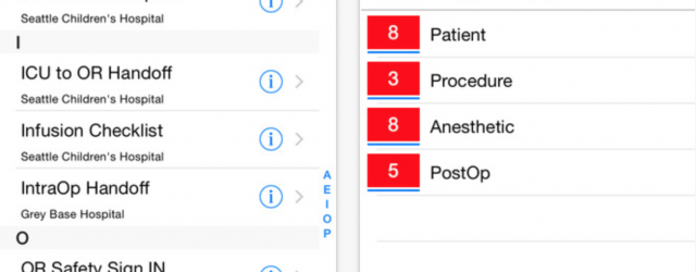 CheckAid app provides surgery checklist for the OR