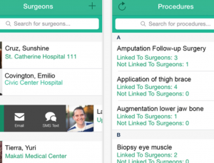 Share surgeon preferences in operating room with MySurgeon app