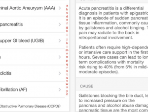 Clinical Conditions app is a study in how not to make a medical app