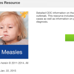 cdc measles outbreak app