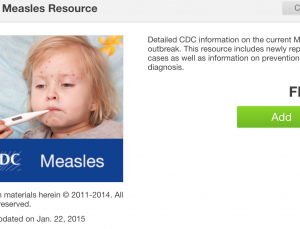 CDC Measles information for physicians available in app form