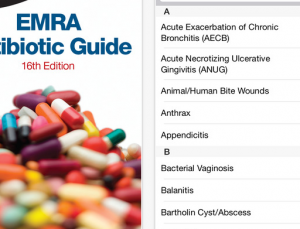 EMRA updates popular Antibiotic guide for free, but doesn't fix search