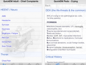QuickEM helps med students and residents formulate Emergency Medicine differentials