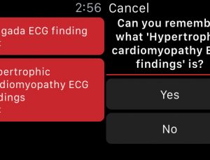 Memorizing medical content using Apple Watch and spaced repetition app