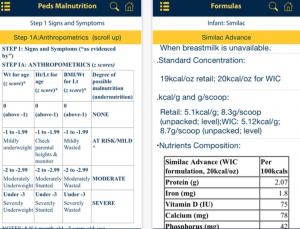 Review of PediatricRD app, a nutritional reference for pediatrics