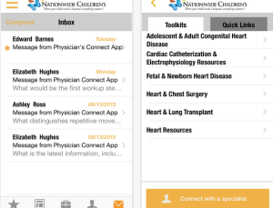 Nationwide Children's Hospital gives direct access to pediatric specialists via Physician Connect app