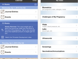 Pregnancy A to Z is a great Journal app for expecting mothers