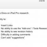google docs ipad pro can't insert link