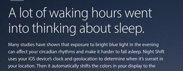 iPhone update will improve sleep with Night Shift mode