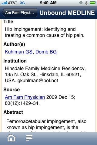 Evidence Central by Unbound Medicine - iPhone App Review
