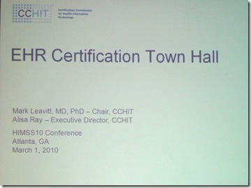 EHR certification