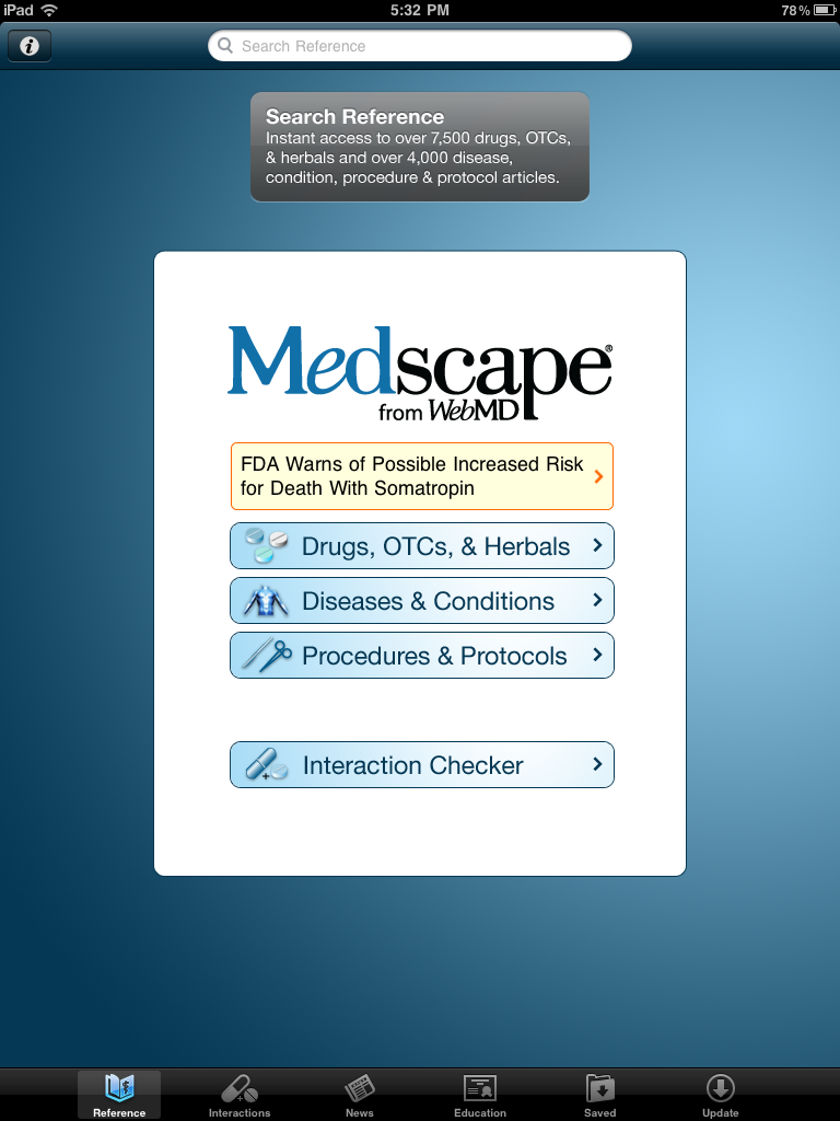 The best free iPhone medical app comes to the iPad, Medscape