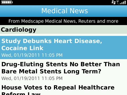 Blackberry Medical App Review Medscape