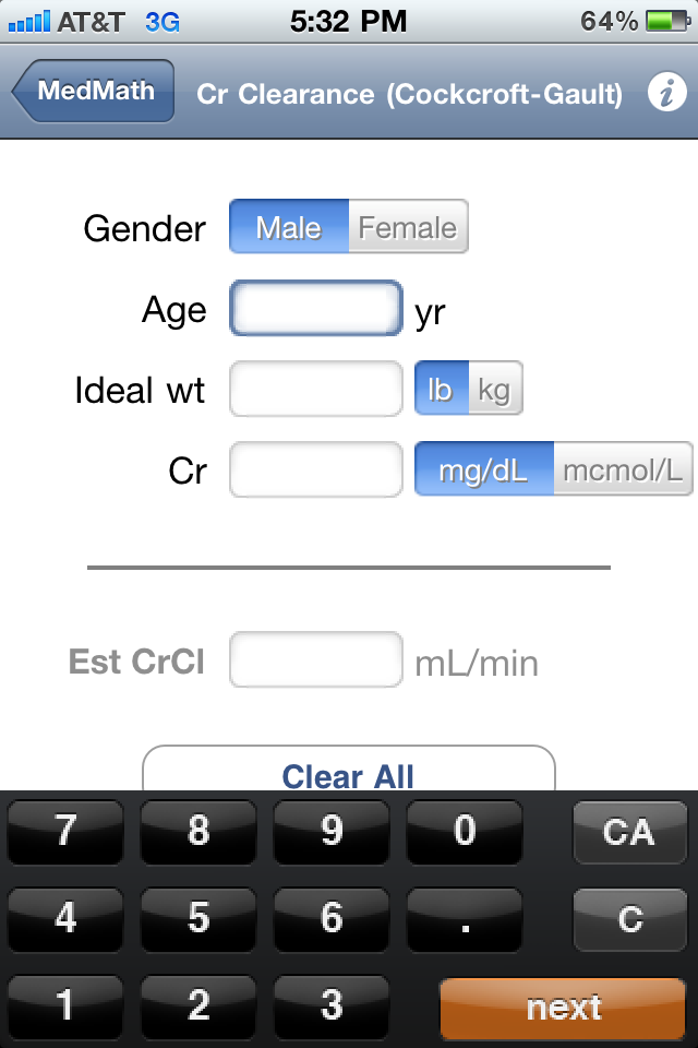 Medical Calculator S For The Iphone