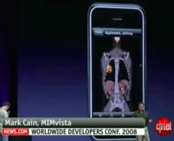 Mark Cain CTO MIM Software presenting at Apple WWDC 2008