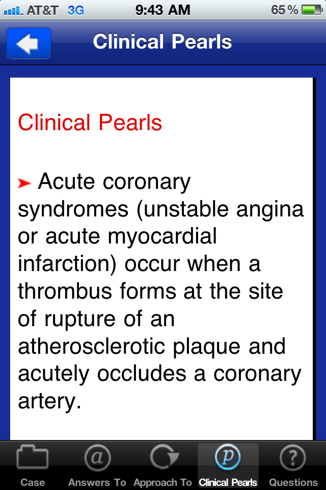 Case Files: Internal Medicine Comes to the iPhone & iPad