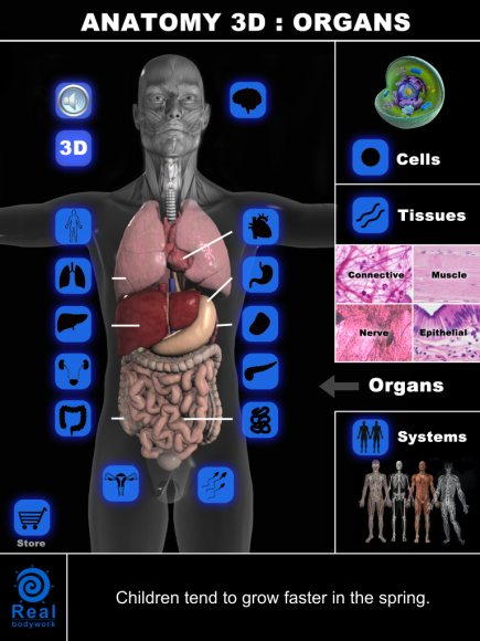 Anatomy 3D Organs app has no real utility for healthcare professionals