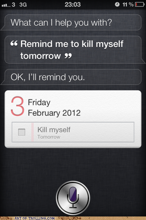 suicidal  don u0026 39 t ask siri for help