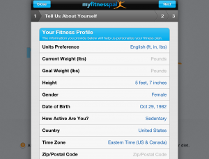 Self tracking fitness, review of popular MyFitnessPal app