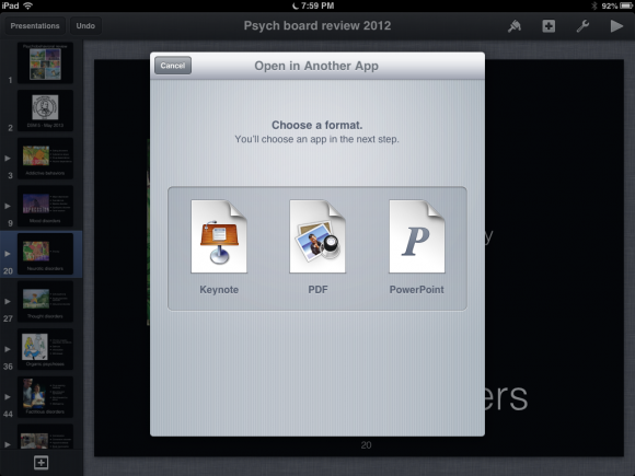 how to use remote on keynote