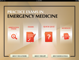 Practice Exams in Emergency Medicine is an evidence based iPad board review app