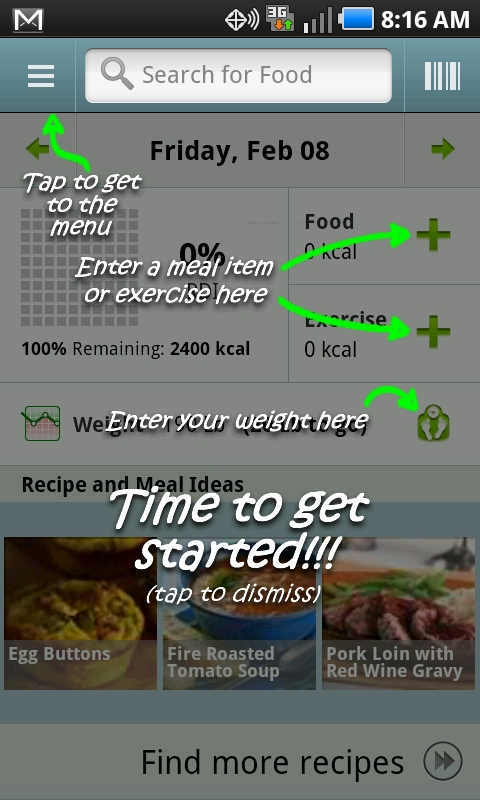 Calorie Counter for Android is simple, convenient, and ...