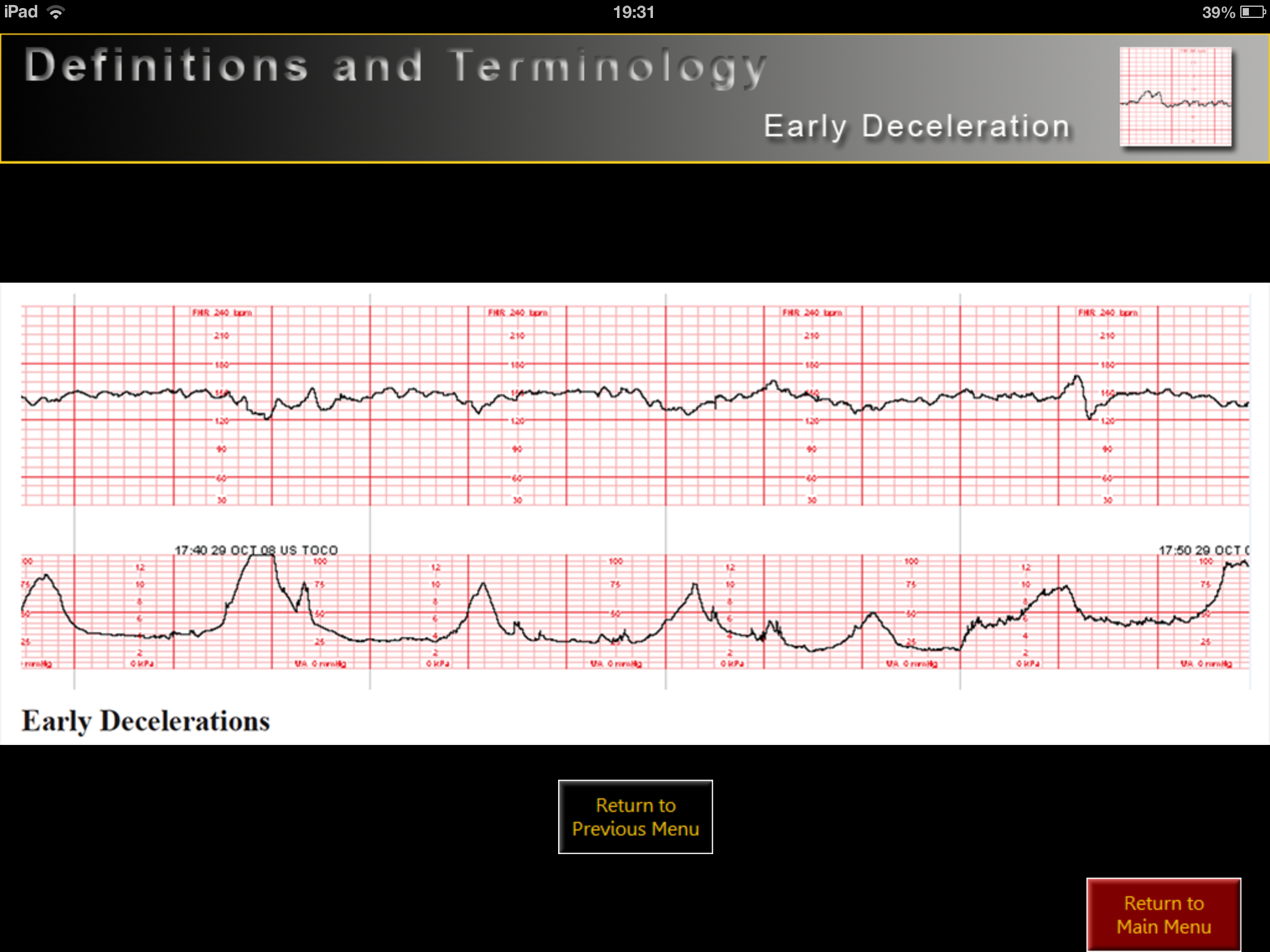 Electronic Fetal Heart Rate Monitoring iPad medical app review
