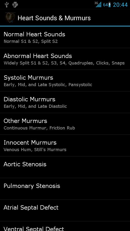 Heart Sounds & Murmurs is a very good heart sounds app for