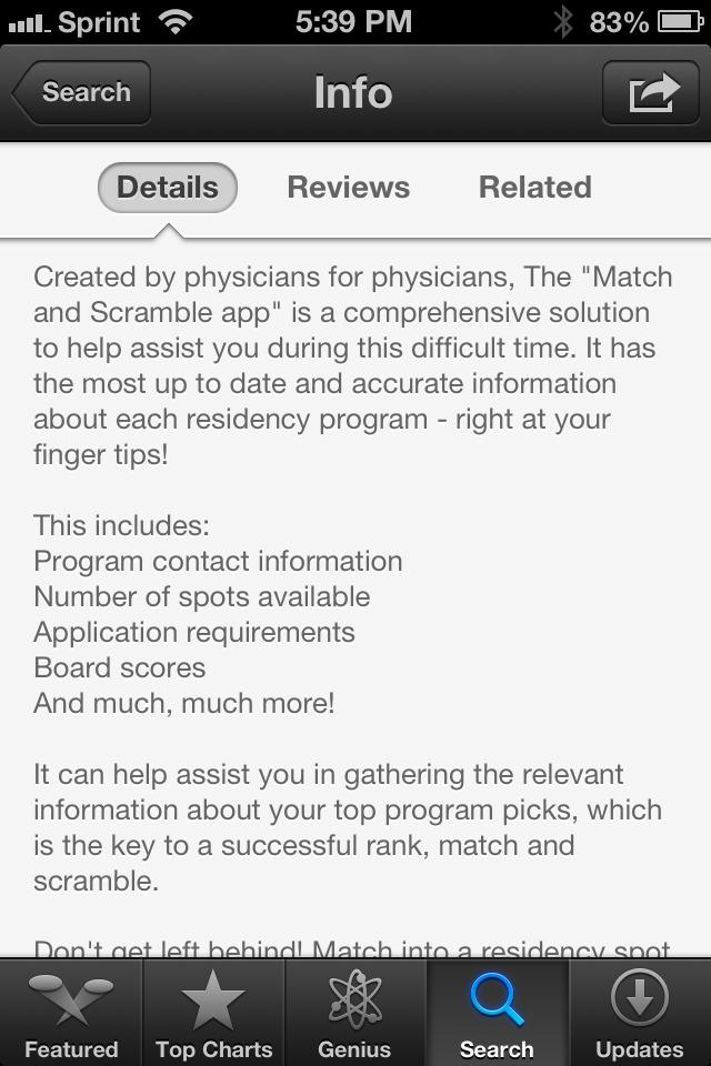 Scrambl iPhone medical app review