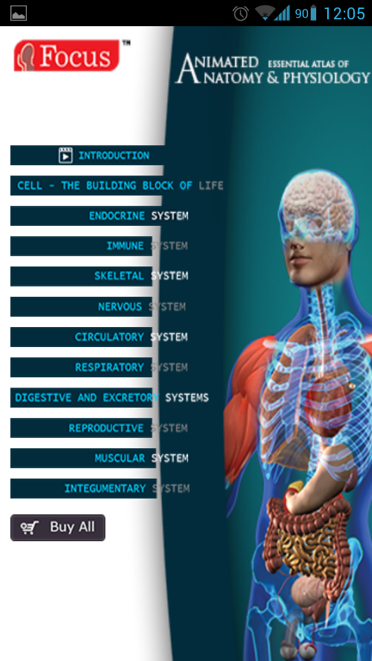 Animated Essential Atlas of Anatomy and Physiology Android medical ...